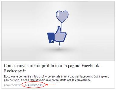 Con Open Graph tag in Facebook