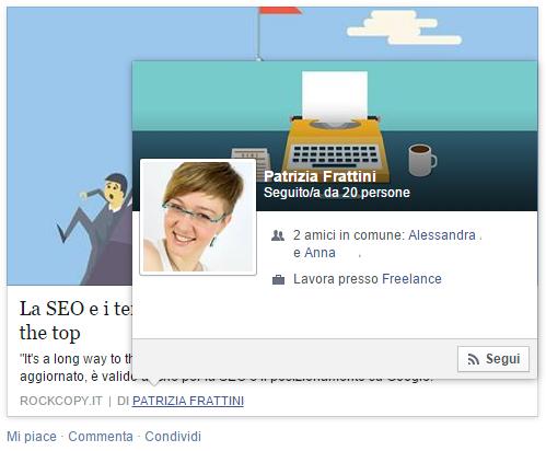 Open Graph Facebook - profilo privato