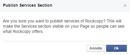 Service Section Facebook